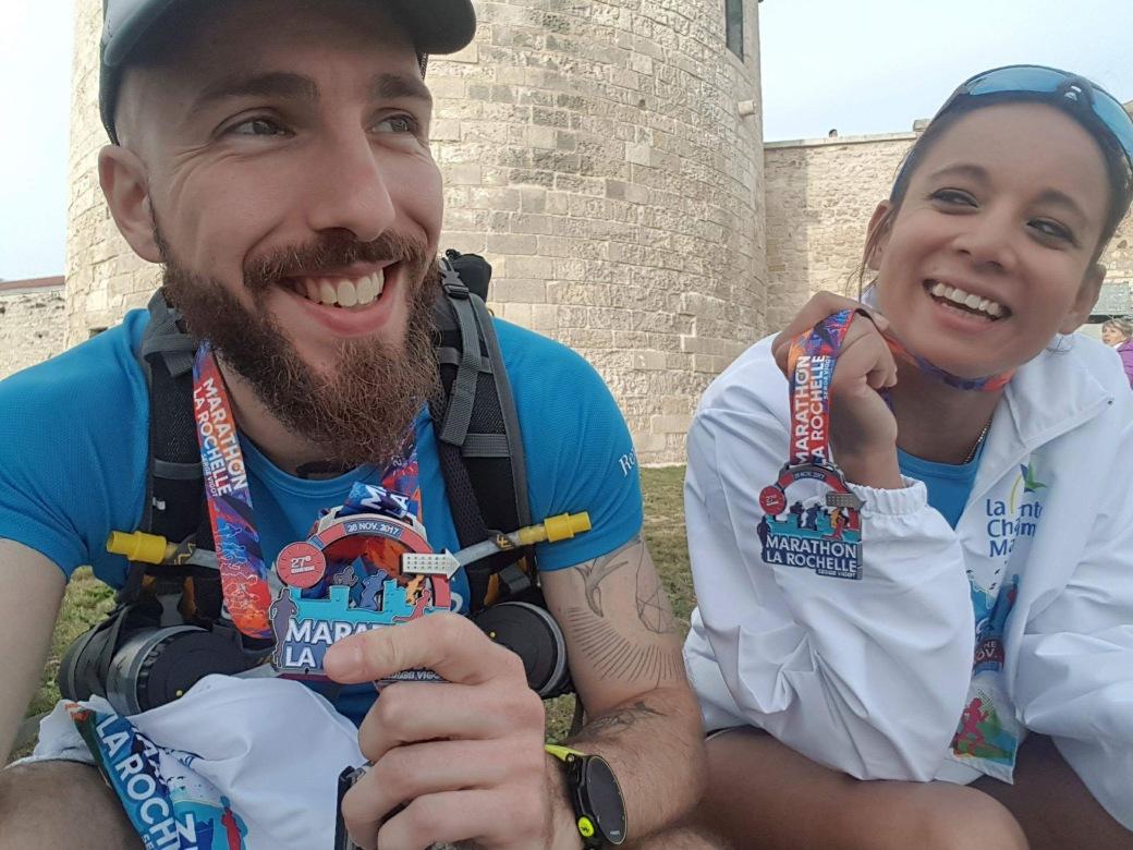 medaille marathon la rochelle 2017