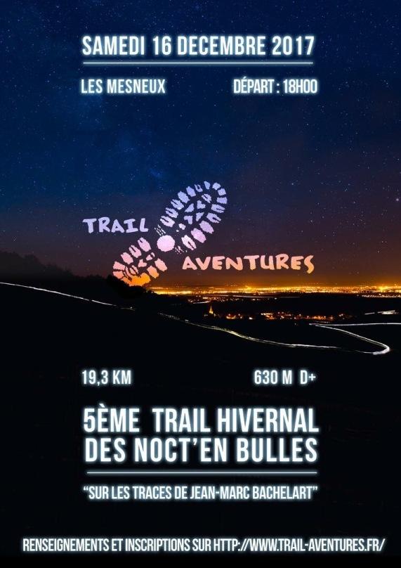affiche trail hivernal des noctembulles noct'en bulles 2017