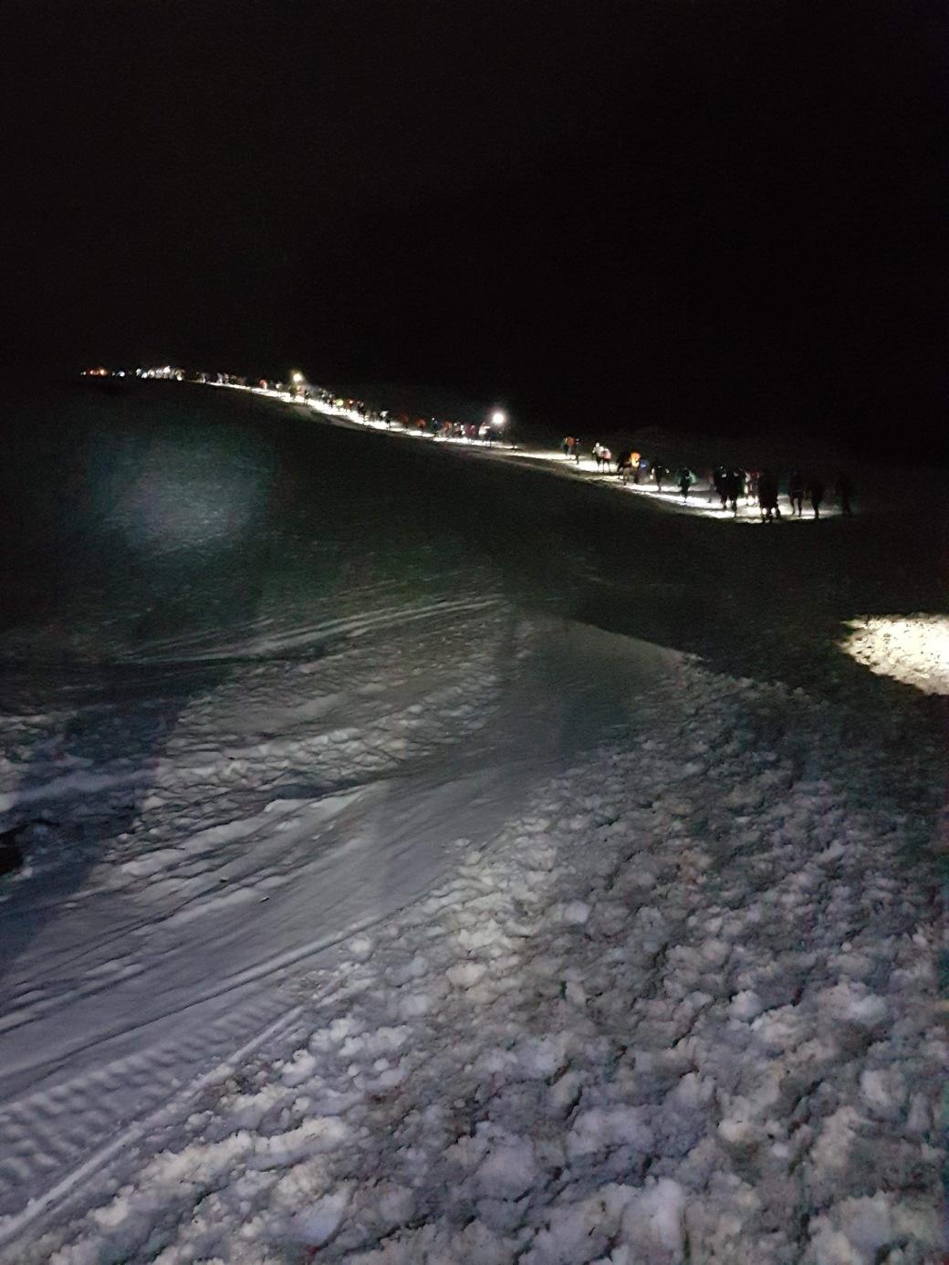 Trail blanc des vosges 2018 nocturne