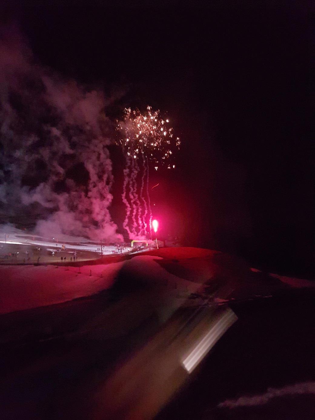 Trail blanc des Vosges feu d'artifice nocturne